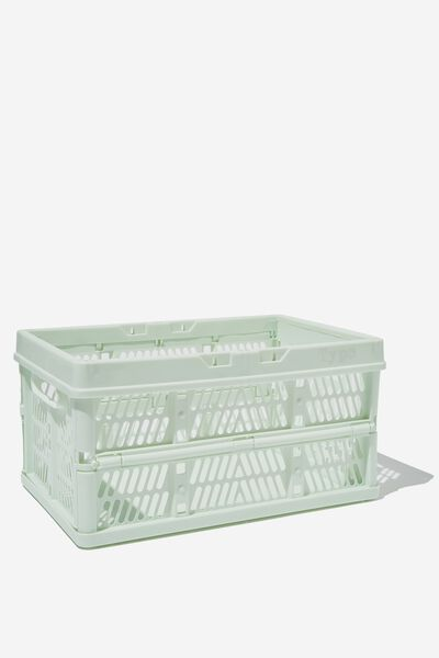 Midi Foldable Storage Crate, SPRING MINT