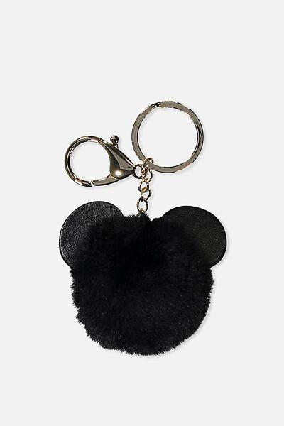 Bag Charm, LCN BLACK MICKEY EARS
