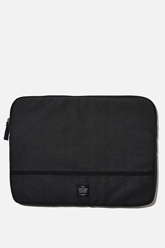 Canvas 15 Inch Laptop Case, WASHED BLACK