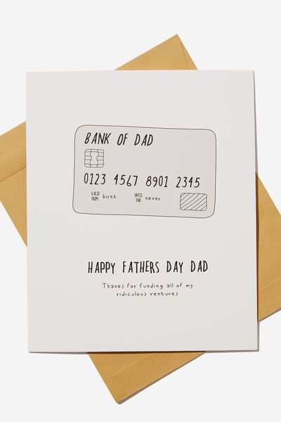 Fathers Day Card 2019, BANK OF DAD