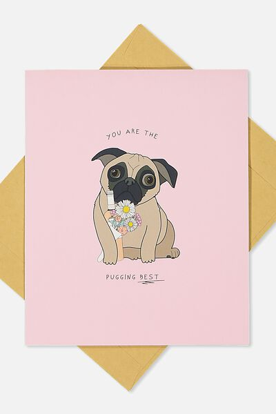 Mothers Day Cards 2018, PUGGING BEST