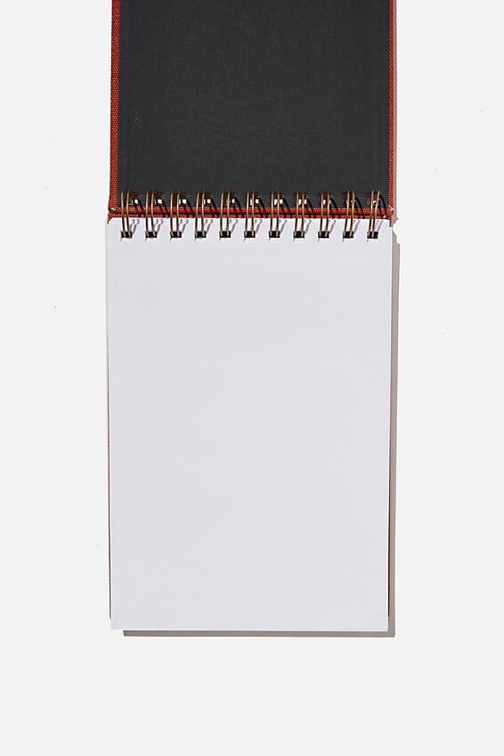 A5 Spiral Sketch Book, RUST