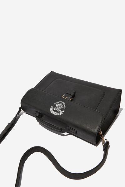 Nuevo Satchel Bag, LCN WB BLACK HOGWARTS EMBLEM