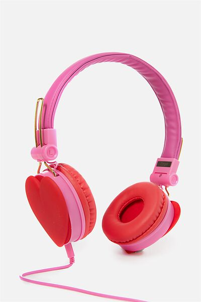 Novelty Headphones, RED HEART