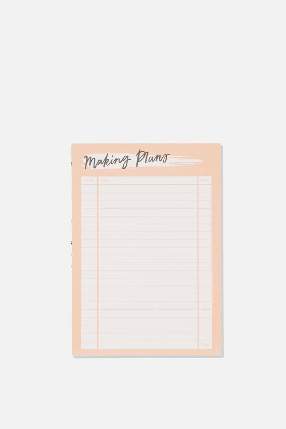 Medium Plan Ahead Planner, MAKING PLANS PINK