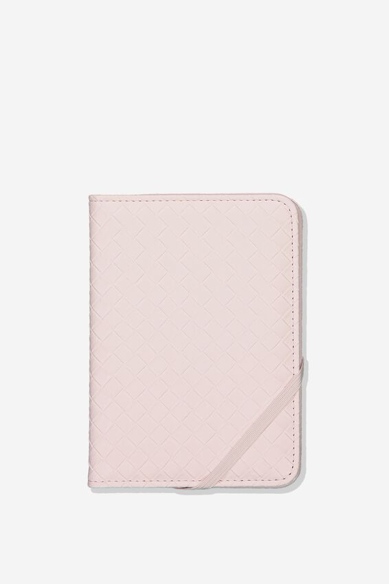 Rfid Passport Holder, BLUSH WEAVE