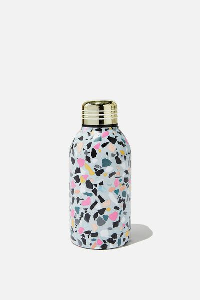 Mini Metal Drink Bottle, BRIGHT TERRAZZO