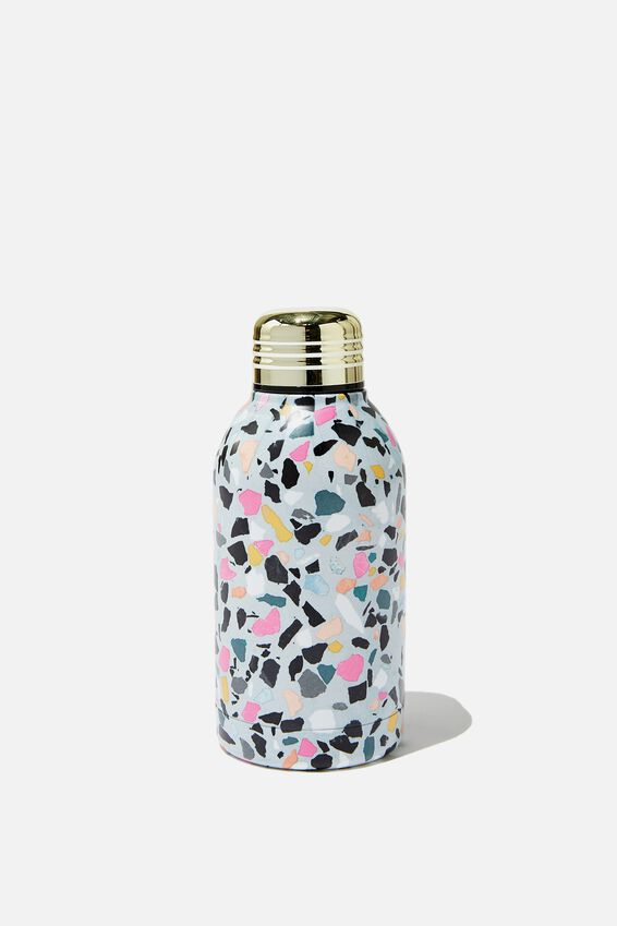 Mini Metal Drink Bottle, BRIGHT TERRAZZO