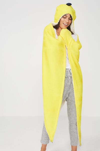 Novelty Hooded Blanket, BANANA SPLIT