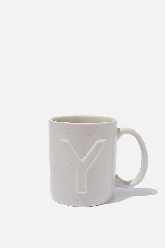Alphabet Anytime Mug, SPECKLED Y