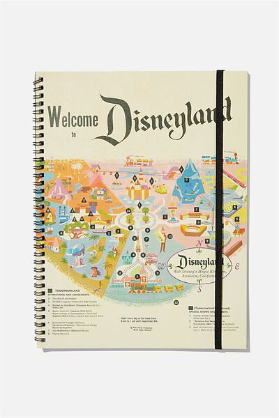 A4 Spinout Notebook Recycled, LCN DISNEYLAND MAP