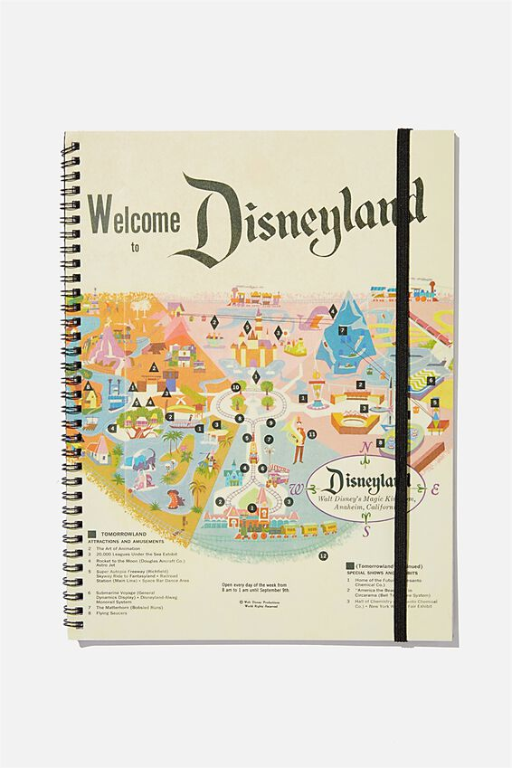 A4 Disney Spinout Notebook Recycled, LCN DISNEYLAND MAP