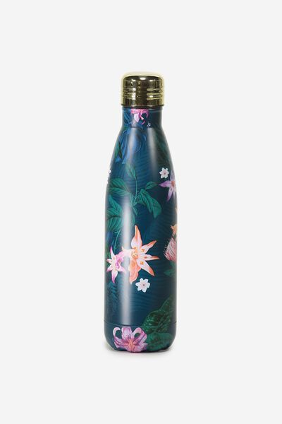 Metal Drink Bottle, JUNGLE FLORAL