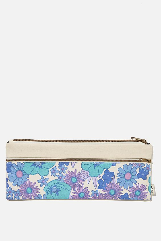 Patti Pencil Case, BLUE STEVIE FLORAL