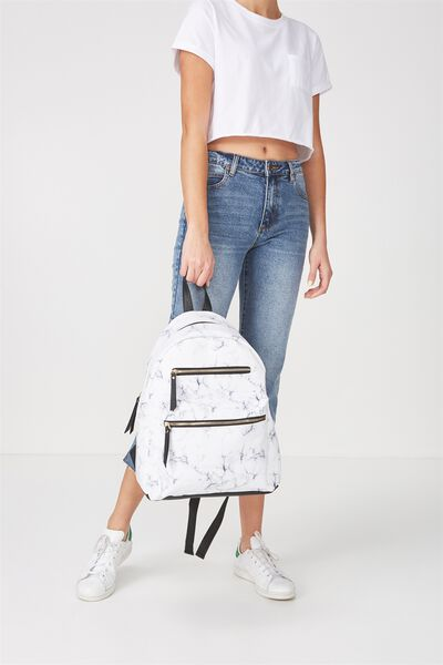 Campus Backpack, MARBLE & BLACK