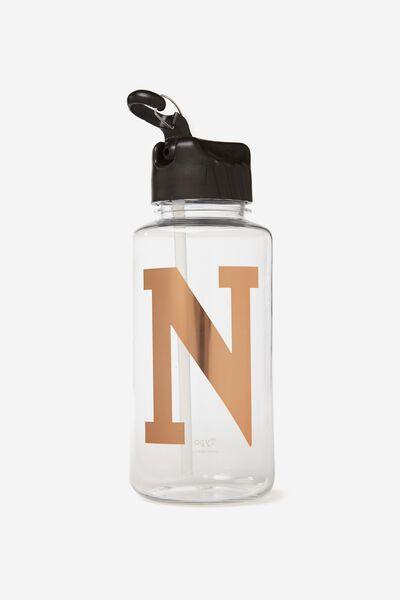 Alphabet Drink Bottle, ROSE GOLD N