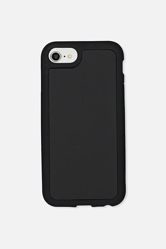 Superior Phone Case Universal 6,7,8, BLACK RUBBERISED