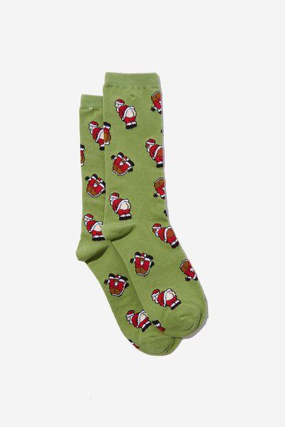 Socks, CRACKING SANTA!