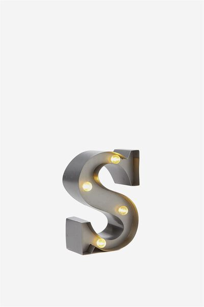 Mini Marquee Letter Lights 10cm, SILVER S