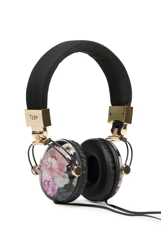 Tune Out Headphones, FILTERED FLORAL