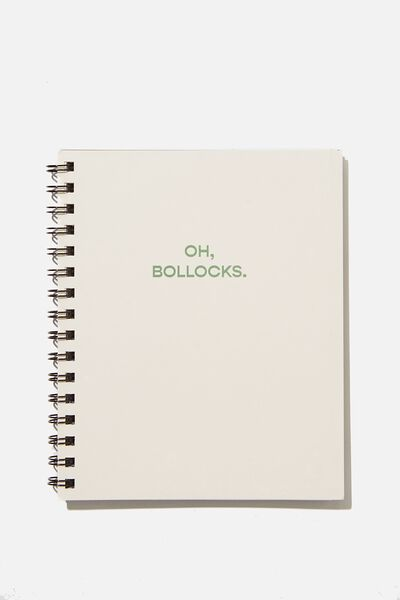 A5 Campus Notebook Recycled, RG UK OH BOLLOCKS!