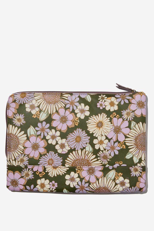 Oxford 13 Inch PU Laptop Case, SUNNIE FLORAL