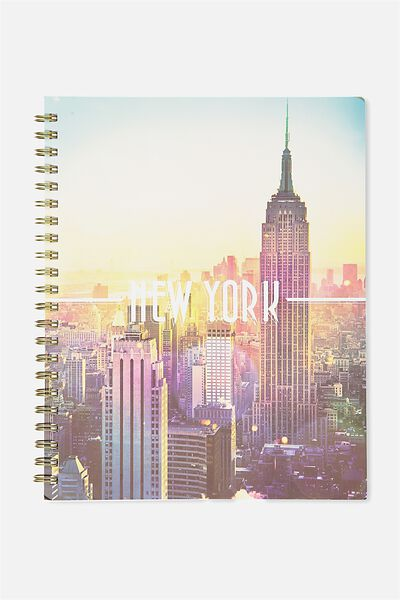 Large Campus Notebook - 240 Pages, NEW YORK