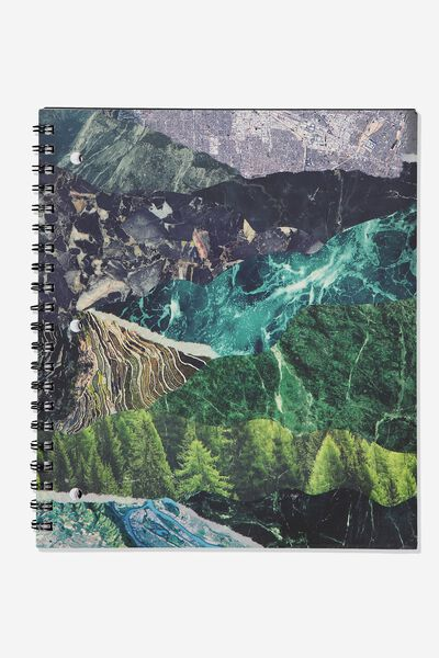 College Ruled Campus Notebook - V, WILDERNESS COLLAGE