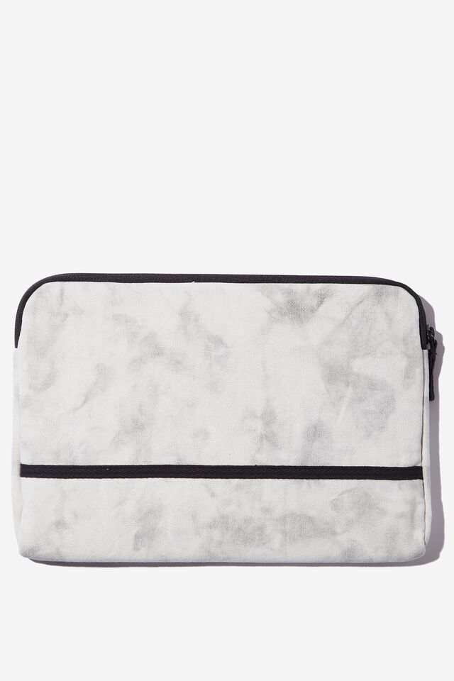 Take Me Away 11 Inch Laptop Case, SPACEY TIE DYE COOL GREY