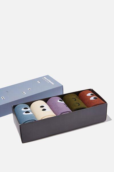 Box Of Socks, FUN FACES (M/L)