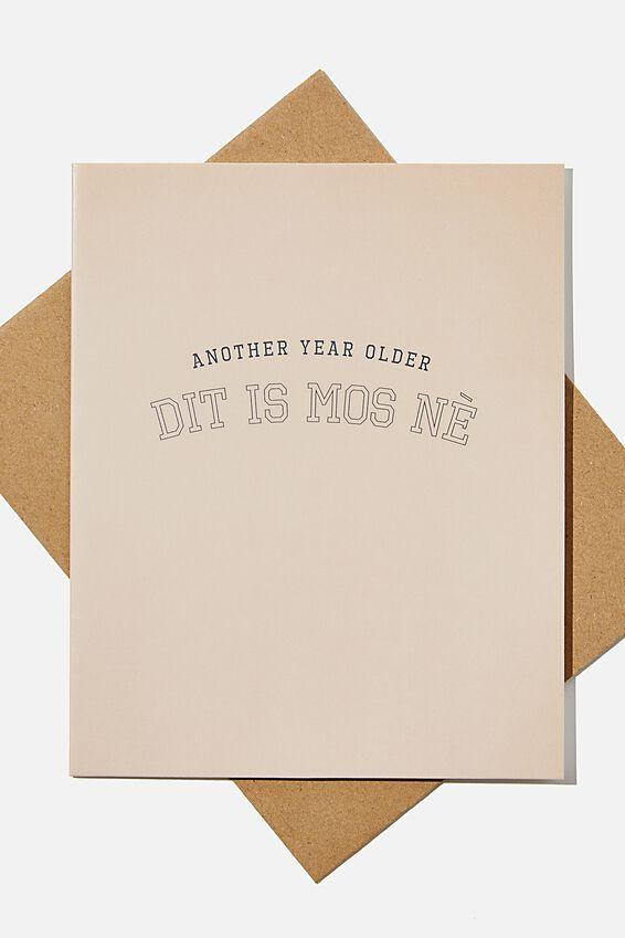 Funny Birthday Card, RG SAF DIT IS MOS NE