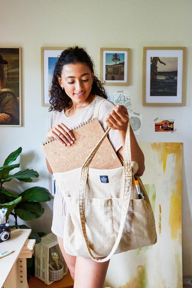 The Studio Tote Bag, WASHED DRIFTWOOD