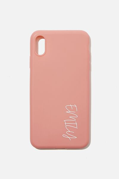 Personalised Slimlin Recycled Iphone Ex Max Case, DUSTY ROSE
