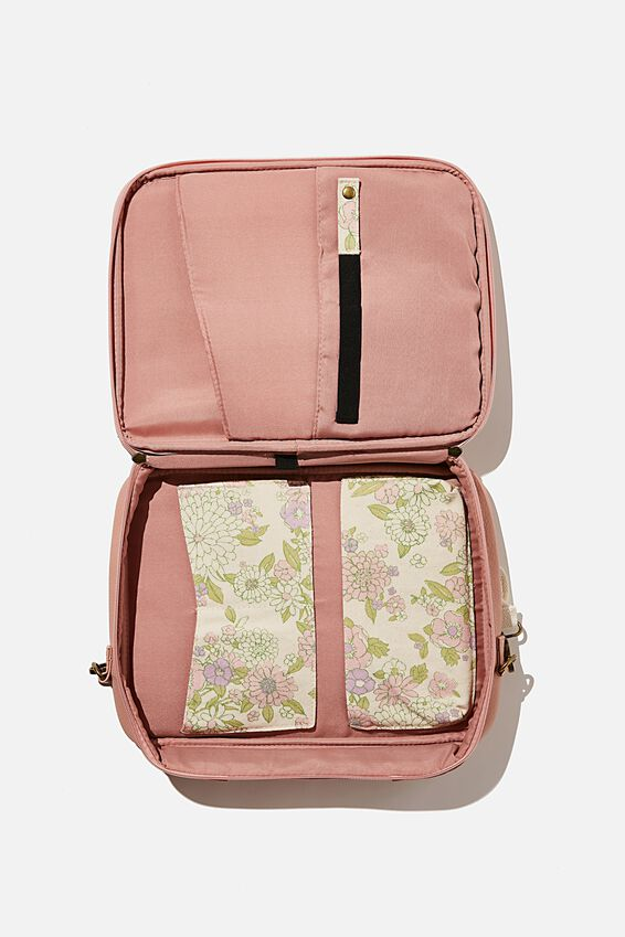 Commute Laptop Case 13 Inch, NUDE PINK WITH MINT PINK MOLLY FLORAL