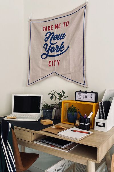 Large Pennant Wall Flag, TAKE ME TO NEW YORK