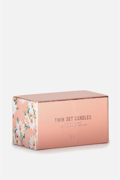 Twin Set Candles, ROSE GOLD & PINK