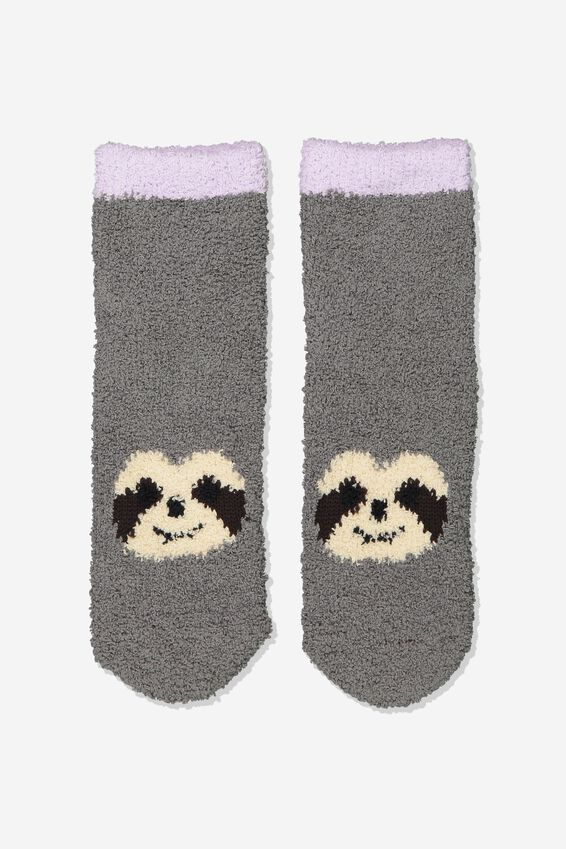 Slipper Sock, GREY SLOTH