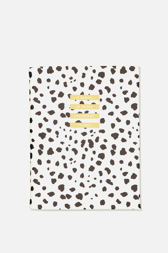 A5 Hidden Spiral Notebook, POLKA IMPORTANT THINGS