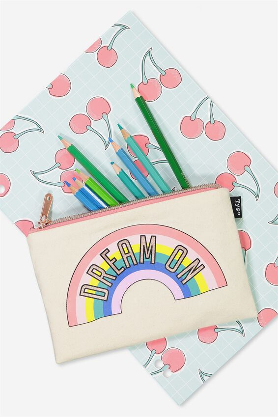 Riley Pencil Case, DREAM ON