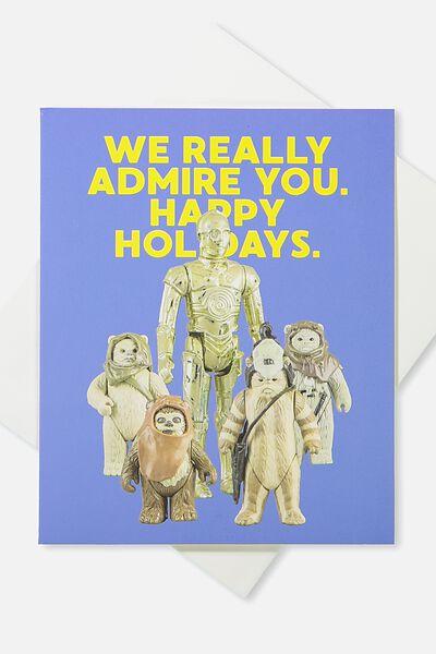 2018 Christmas Card, LCN WE REALLY ADMIRE YOU