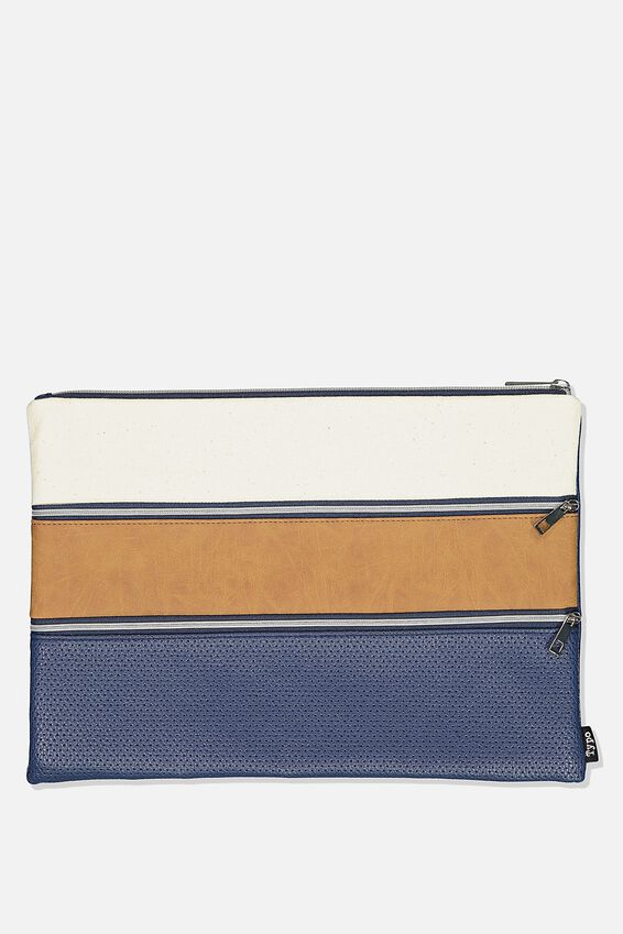 Keep It Together Pencil Case, NAVY & TAN