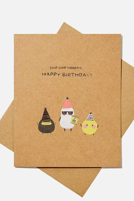 Nice Birthday Card, LCN IRV IRVINS CHIP CHIP HOORAY
