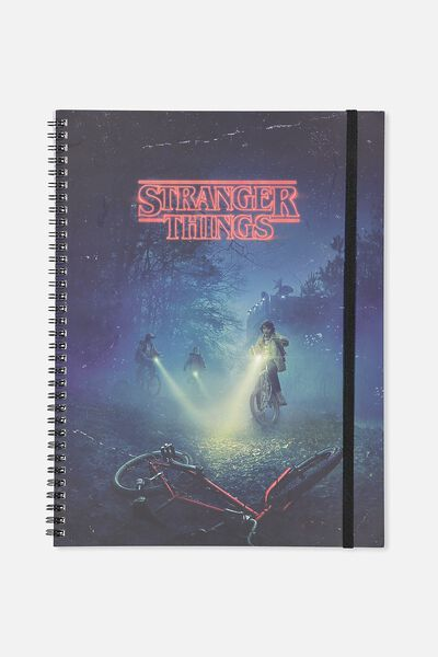 A4 Spinout Notebook - 120 Pages, LCN STRANGER THINGS
