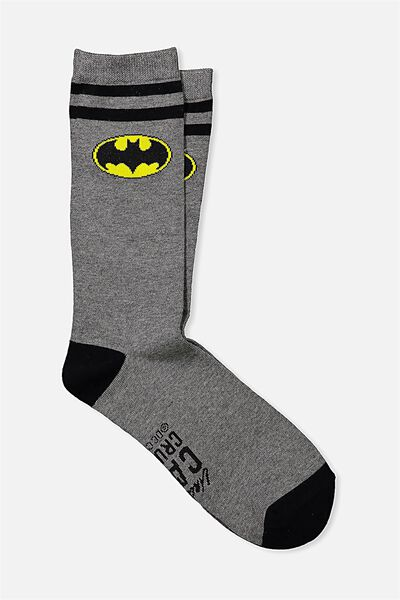 Mens Novelty Socks, LCN CAPED CRUSADER