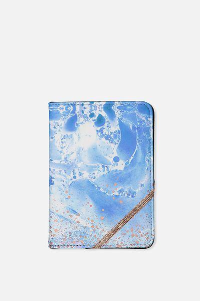 Passport Holder, BLUE MARBLE