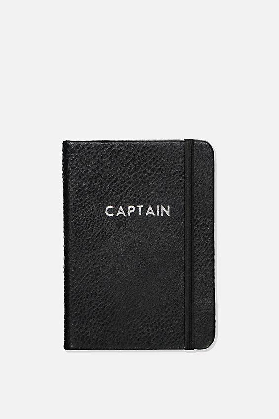 Personalised A6 Buffalo Journal, BLACK