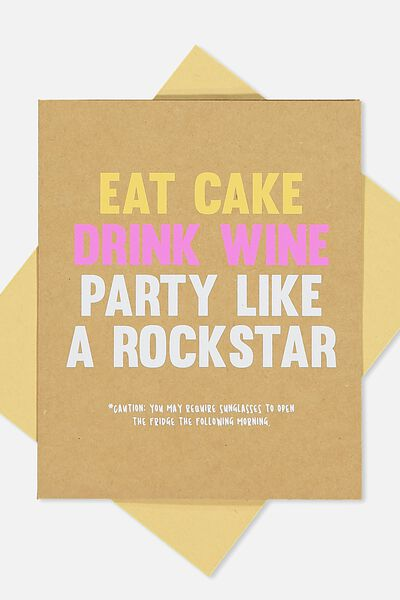 Funny Birthday Card, LIKE A ROCKSTAR!