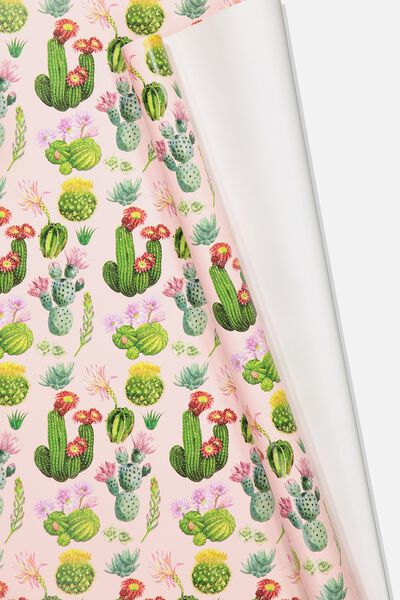 Roll Wrapping Paper, CACTUS FLORAL