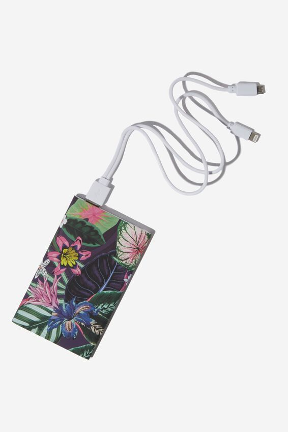 Printed Charge It Charger, RESORT FLORAL