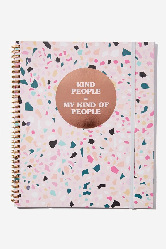 College Ruled Spinout Notebook V, KIND PEOPLE